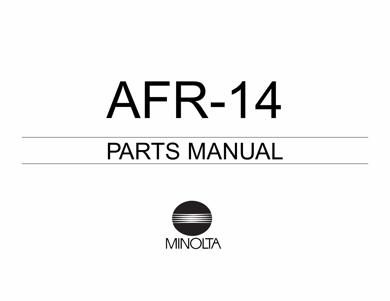 Konica-Minolta Options AFR-14 Parts Manual-1